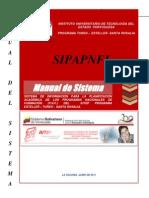 SIPAPNFI MANUAL DE SISTEMA SISTEMA DE INFORMACIÓN PARA LA PLANIFICACIÓN ACADÉMICA DE LOS PROGRAMA