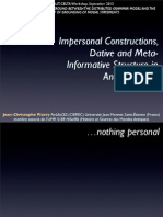 Impersonnal Constructions, Dative and Meta-Informative Structure in Ancient Greek