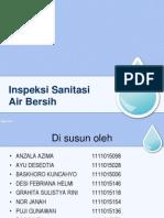 Inspeksi Sanitasi Air Bersih Kelurahan Loa Bahu