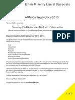 EMLD Calling Notice AGM 2013