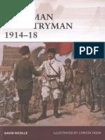 Osprey Warrior-145 Ottoman Infantryman 1914-18