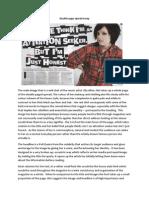 double page spread essay
