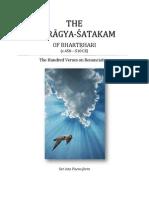 Vairagya-Satakam of Bharatrihari in Poem