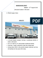 Warehouse Visit-agility and future logistics