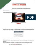Original Cronograma EMERGENCIAL de Estudos Para o XII Exame Da OAB