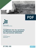 Conditions de vie carcérale et détresse psychologique des personnes détenues - Programme Madagascar (Handicap International - Décembre 2012 )