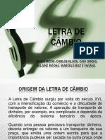 LETRA DE CÂMBIO APRESENTAÇÃO