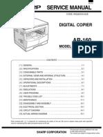 Sharp Ar 160 & 161ar-161 Service Manual