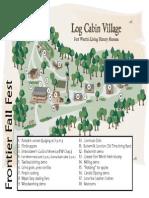 Frontier Fall Fest Activity Map--Log Cabin Village