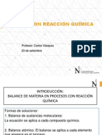 balance con reacción química