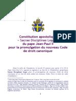 Sacrae Disciplinae leges - franáais