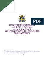 Sapientia christiana - franáais