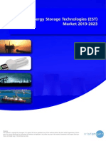 The Energy Storage Technologies (EST) Market 2013-2023