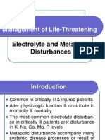 Electrolyte & Metabolic Disturbance