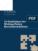 Policy Recommendation Guidelines
