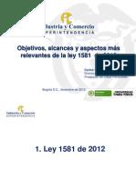 Presentacion Nueva Ley 1581- Sic