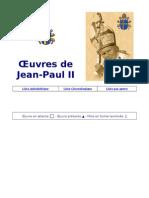 Oeuvres de Jean-Paul II - Liste Chronologique