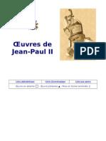 Oeuvres de Jean-Paul II - Liste