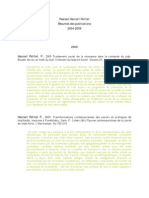 Resumes Des Publications Hancart Petitet. 2004-2009 Doc