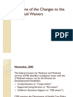Timeline of the Changes to the Medicaid Waivers