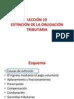L19 Extinción de la obligación tributaria