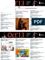 Agenda Cultural OCT 16 Al 20