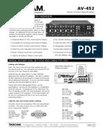 AV 452 RS 232 Protocol