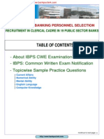 IBPS Common Written Examination Practice Paper Www.bankpoclerk.com