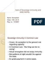 Development of Sovereign Immunity and State Liability