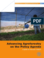 Advancing Agroforestry on the Policy Agenda, A guide for decision-makers (FAO – 2013)