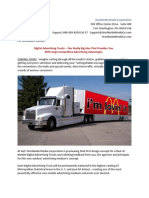 Digital Advertising Trucks - Our Really Big Idea That Provides You With Huge Competitive Advertising Advantages