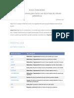 Listado de funciones de hoja de cálculo EXCEL