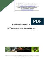 Rapport Annuel numéro 08 – 1er Avril 2012 – 31 Décembre 2012 (Madagasikara Voakajy)