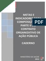 Caderno_metas Coap 2012