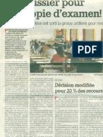 Un Huissier Pour Une Copie d'Examen, Nouvelle Gazette du 2 Juillet 2009