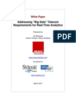 Addressing Big Data Telecom Requirements for Real Time Analytics