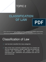BAWB1033 Intro to MLS Topic 2 - Classification of Law