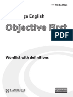 Wordlist With Definitions