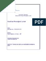 Kualitas Software - UAS Manajemen Proyek Perangkat Lunak