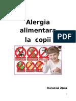 Alergia Alimentara - Pediatrie