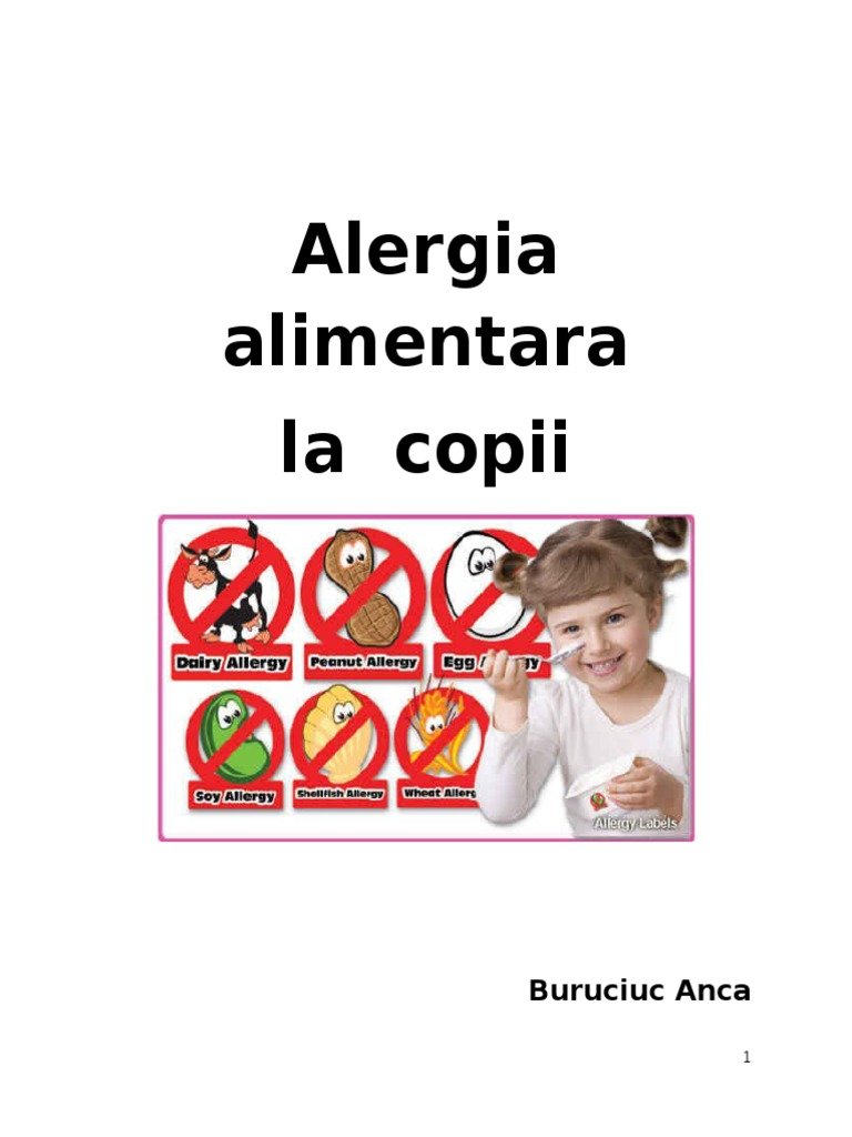 alergia alimentară a locației