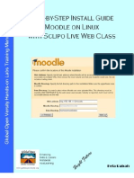 Step-by-step Install Guide Moodle on Linux with Sclipo Live Web Class on Linux v1.4