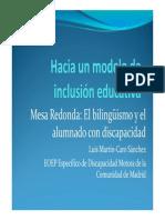 El bilingüismo y el alumnado con discapacidad - Luis Martin Caro.pdf