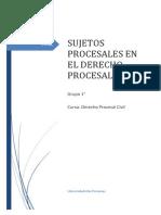 Monografias Sobre Los Sujetos Procesales en El Proceso Civil... 1er. Grupo