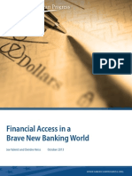 Financial Access in a Brave New Banking World