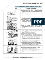 RDP BOL 003 Riesgos Mantenimiento Equipos Pesados