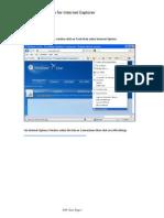 Proxy Configuration for Internet Explorer