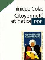 COLAS Citoyennete Et Nationalite