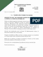 Press Release Jiwe La Msingi Nyumba Mabwepande Bunju B Makamu W_1