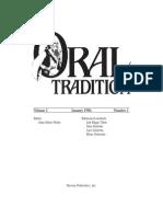 Oral Tradition 1-1